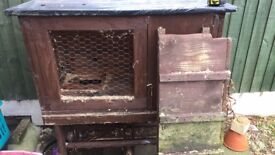 Rabbit Hutch with Ramp and Run
