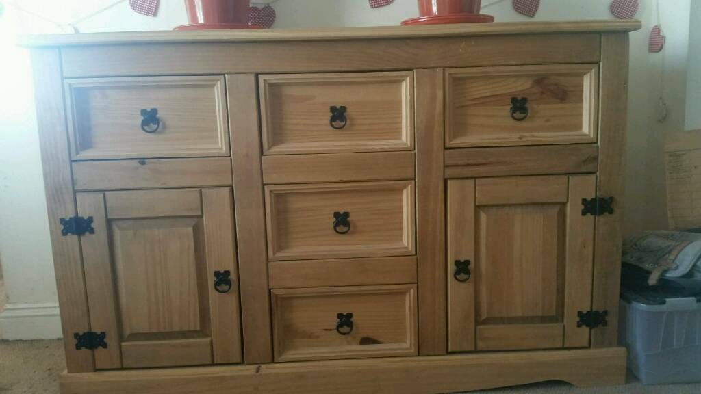Mexican pine sideboard
