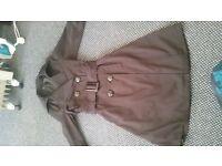 zara basic mac coat size small black