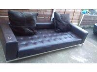 Designer 3 seater leather sofa