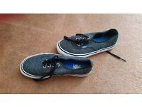 Grey Vans grey shoes