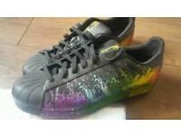 Adidas superstars *rare* paint splatter mens size 12