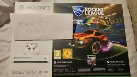 XBox One S 500GB Rocket League 4k Bluray BNIB unopened 3 months Live