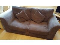Chocolate brown sofa FREE TO COLLECT