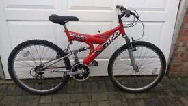 Shockwave Sus450   Full Suspension   18 speed   Mountain Bike - Just serviced  