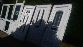 5 upvc doors all various with new pannels all to clear FREE delivery 20 mile radius