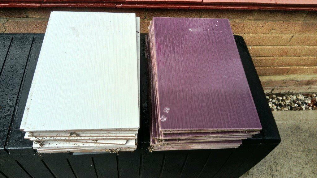 White And Purple Bathroom Tiles In Hutton Essex Gumtree