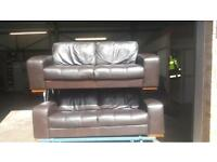 2 x Italian Leather Sofas
