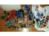 Bundle of Power Ranger bikes & figures