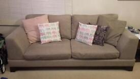 3 & 2 Seater Couch + Footstool measures 87inches x 37inches (3 seater) 67inches x 37inches 2 seater