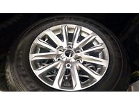 4 GENUINE ALL NEW 2016 MITSUBISHI L200 BARBARIAN ALLOY WHEELS TYRES RIM WARRIOR TROJAN ANIMAL TRITON