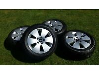 4 x Audi Alloys with Pirrelli P600 Tyres in Good Condtion
