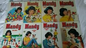 MANDY ANNUALS X 8 FROM 1981-1988