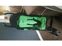 Green echo chicco stroller with raincover