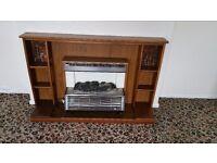 Retro electric fireplace
