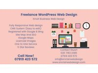 Freelance WordPress Web Design /Small Business Web Development