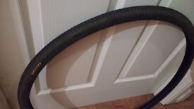 Bicycle tyre 27'' x 1 1/4; been used for about a month
