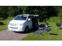 CAMPER VAN HIRE DUNDEE - VW T5 LWB Automatic - NOW £450 per week if booked direct