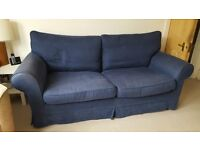 Three-seater blue sofa for sale