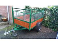 6 x 4 Woody High Sided Trailer with drop down tailgate