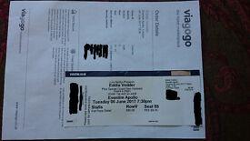 Eddie Vedder TICKET Eventim Apollo London