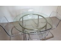 Glass round table IKEA Salmi 105cm diameter - good condition