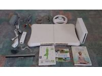 Nintendo Wii Console in good working order with everything in picture