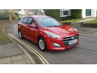 2015 HYUNDAI I30 1.6 CRDI S BLUE DRIVE 6 SPEED MANUAL ESTATE RED 1 OWNER FULL SERVICE HISTORY 2 KEYS