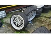 "Bmw alloy wheels BBS staggered 18"" GOOD SET"