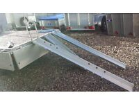 Galvanised bike runners for holding motorbike with front wheel hoop loading ramps quads & lawnmowers