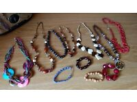 Necklace, Earrings and Bracelets (More than 60 pieces)