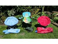 Childrens Fold Up Garden Chairs
