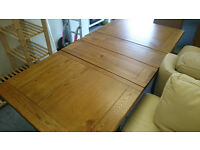 Large Extendable Dining Table Solid Oak