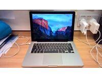 Macbook 13 inch apple mac pro laptop Intel 2.4ghz 320gb or 256gb SSD hard drive 4gb or 8gb ram