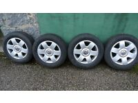 "VW 15"" Alloys in good condition with useable tyres"