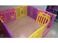 mcc playpen with 8 panels and closing gate and activity panel