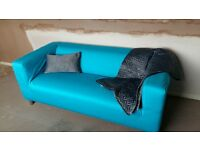 3 Seater Klippan Ikea Sofa and Blue Cover