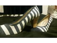 Stripey heel shoes