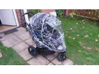 Graco double push chair black