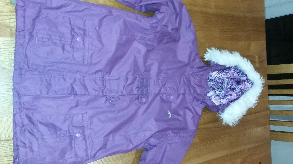 Girls Trespass Purple Ski Jacket age 11-12