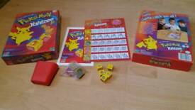 Vintage pokemon yahtzee jr game boxed with instructions