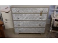 Chest of 4 Draws with lace effect front