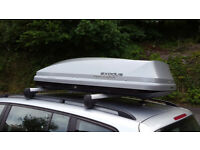 EXODUS ROOF BOX LARGE 470L CARRIER BOX SILVER GLOSSY NOT THULE VGC