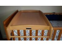 Cot change table