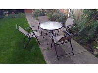 Garden/Outdoor Table and 4xChair Set!