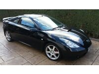 2001 TOYOTA CELICA 1.8 VVTi 1ZZFE 140 BHP MANUAL IN BLACK BREAKING FOR PARTS & SPARES