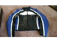 SOLD Ladies leather motorbike jacket and trousers