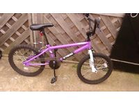 Girls purple bmx not sure what age my daughters 13 and to big for it thats why selling