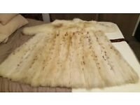 ***REAL LYNX DYED FOX FUR COAT - GENUINE/REAL FUR - VINTAGE 1985***