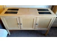 Sideboard and glass cabinet